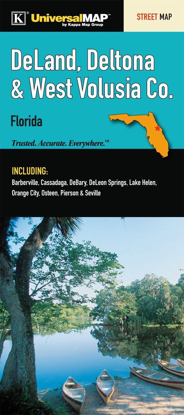 Map Of Deland Florida.Deland Orange City Deltona Florida Fold Map Set Of 2 Florida