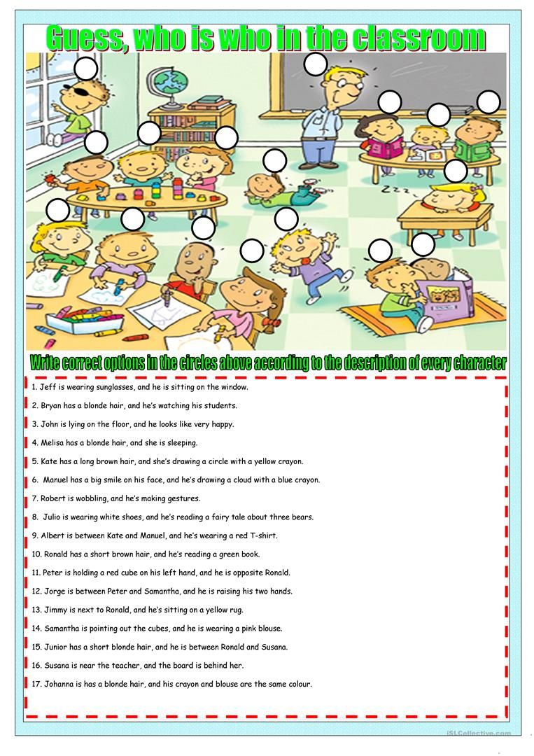 who is who in the class worksheet - Free ESL printable worksheets ...