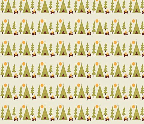 Add to Noah's Kura bed for camping theme?  (Spoonflower.com source for fun fabrics)