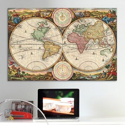Antique Map of the World (1730) Ozsale11029-Multi Old world - new antique world map images