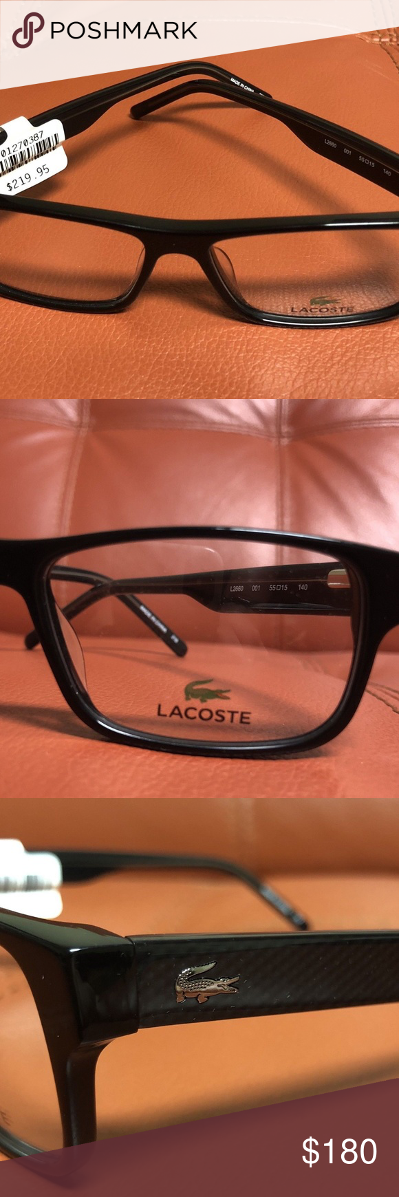 4dda3e5cee9 Lacoste Mens Eyeglasses L2660 Black Full Rim 55MM GLASSES ARE NEW - WITH  PRICE TAGS STILL