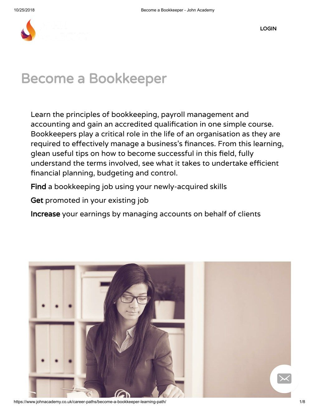 Diploma In Bookkeeping Payroll Management John Academy