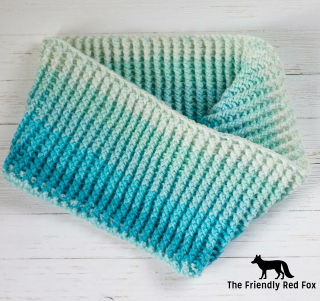 Free Pattern Frozen Inspired Caron Cake Cowl - The Friendly Red Fox ...