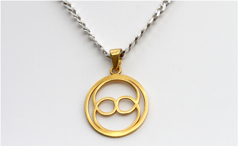 yellow sample product pendant gold unisex rose and slim women shop chains white simple pure necklace genuine men thin fine category