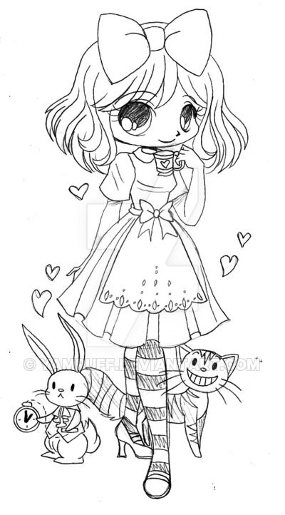 Alice in Wonderland Commission - Sketch by YamPuff on DeviantArt ...