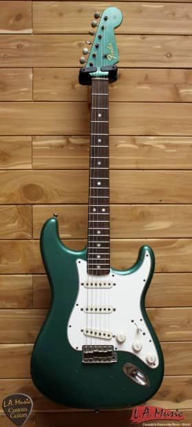 Fender Custom Shop 1965 Stratocaster Relic Sherwood Metallic 9231003315Alder Body Lacquer FinishMaple Neck With Dark Indian Rosewood FretboardaE65