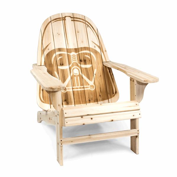 Star Wars Darth Vader Adirondack Deckchair Zing Pop Culture Outdoor Chairs Wooden Outdoor Chairs Star Wars Darth