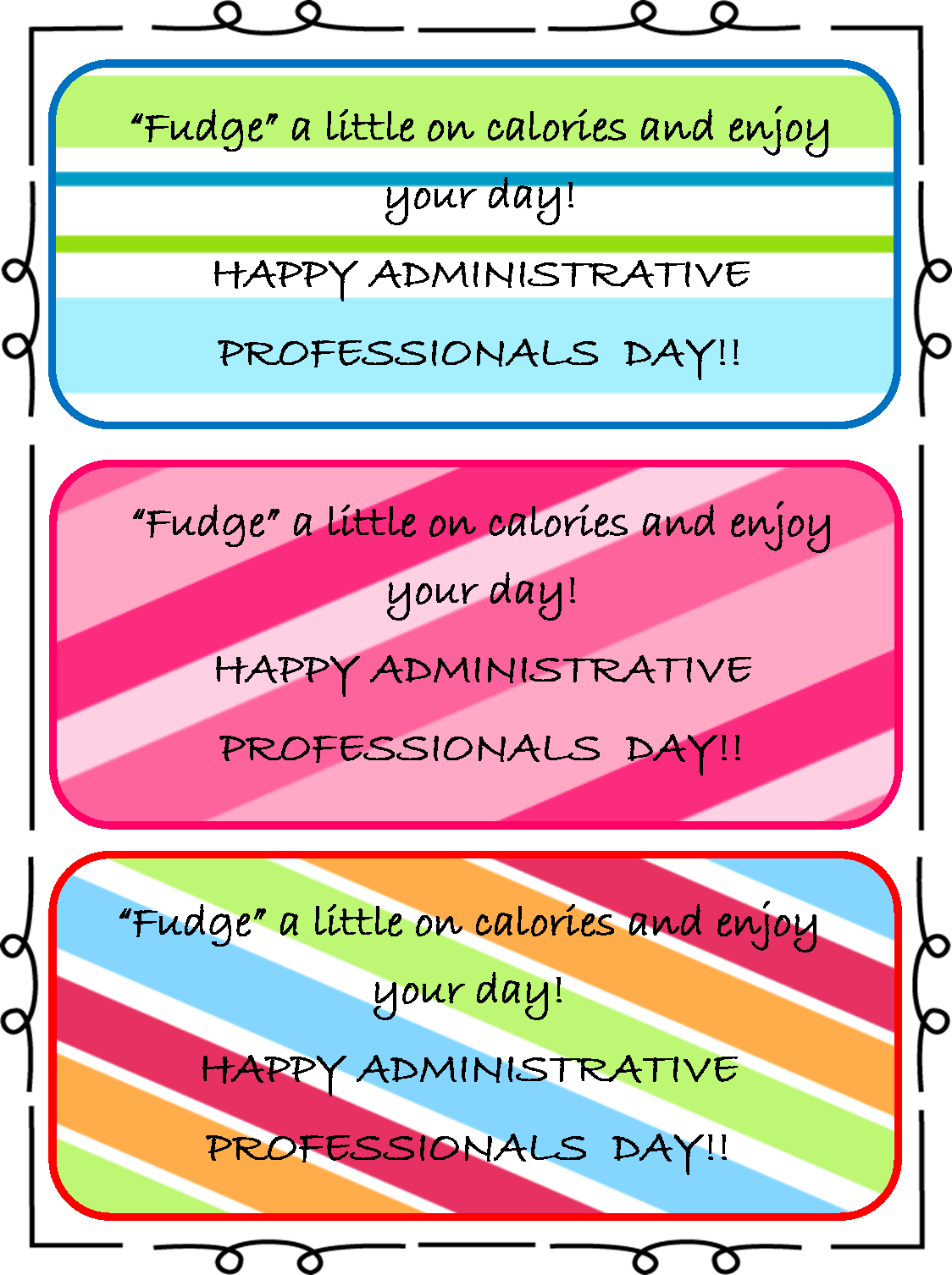 Administrative Assistants Day gift tags. Should be put ...