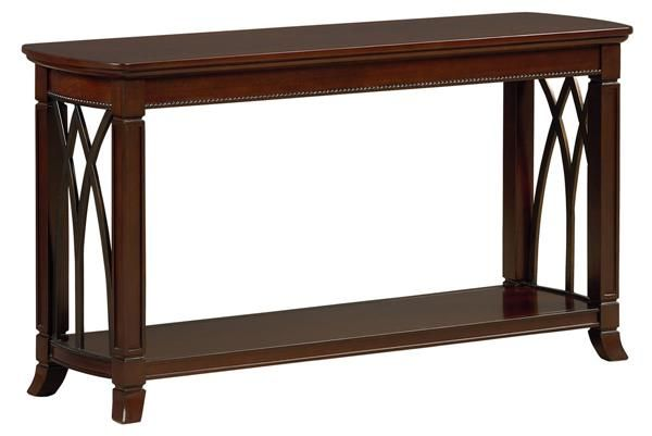 Abbey Traditional Cherry Wood Sofa Table Wood Sofa Table
