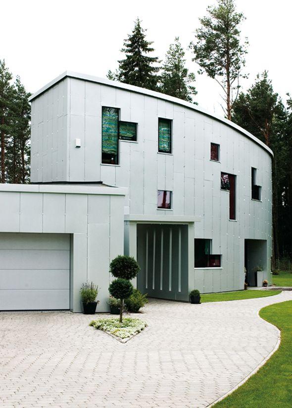 Modern-Aluminium-House-Design-With-Garden-Courtyard-Decorating-Ideas ...