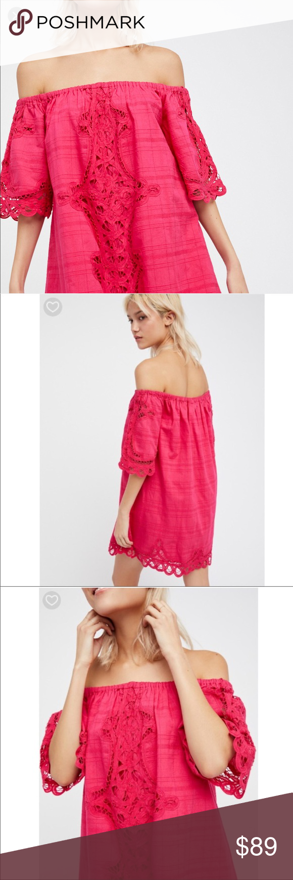dcbfeea22e8f42 Free People Battenburg Off Shoulder Mini Dress New Free People Battenburg  Off the Shoulder Mini Dress NWOT. Absolutely stunning and well made!