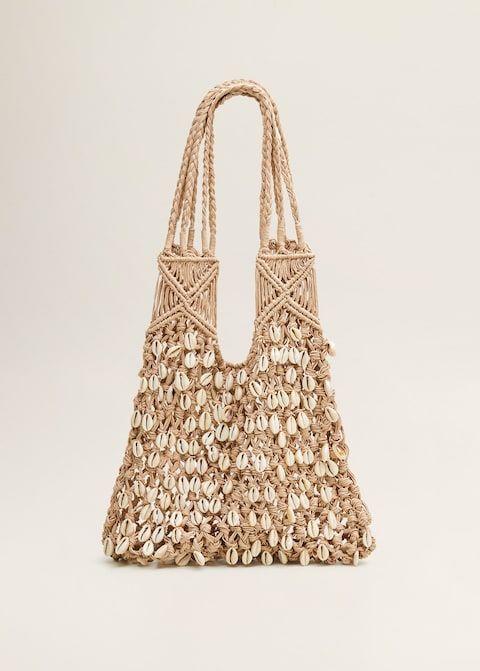 8683e2351f Sac filet coquillages - Femme | Mango France