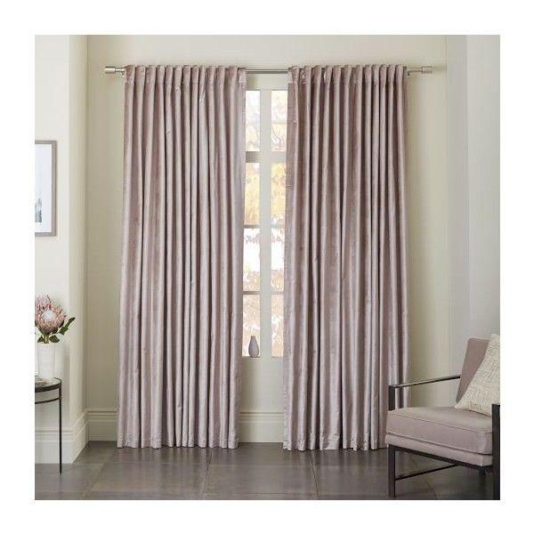 Luster Velvet Curtain Dusty Blush ($89) Via Polyvore