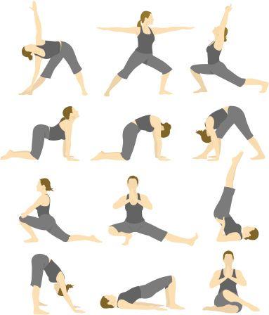 Vectores libres de derechos: Yoga Woman