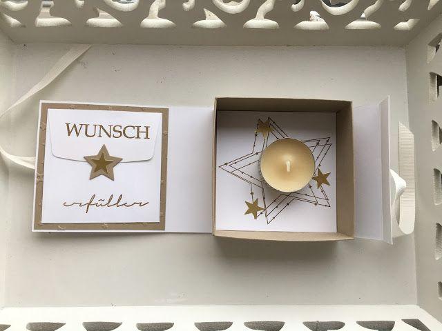 Willkommen auf meinem Blog!  Schön dass ihr hier vorbei schaut!   Was wäre Weihnachten ohne eine Wunschbox!       Eine wunderschöne Idee um ... #weihnachtsmarktideenverkauf