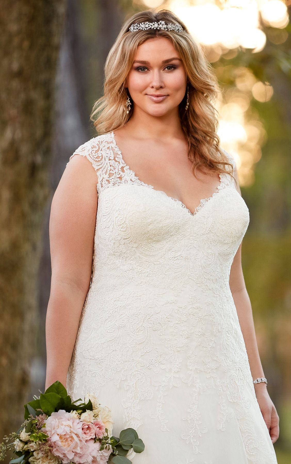 Lace cap sleeve a line wedding dress  ALine Sweetheart Wedding Dress  Hunter McGrady  Pinterest