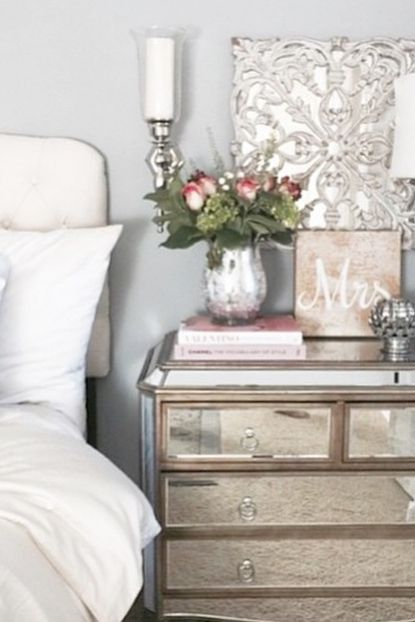 metallic mirror and whites create a luxurious hotel feel you can enjoy everyday happy decorating pinterest metallic create and bedrooms