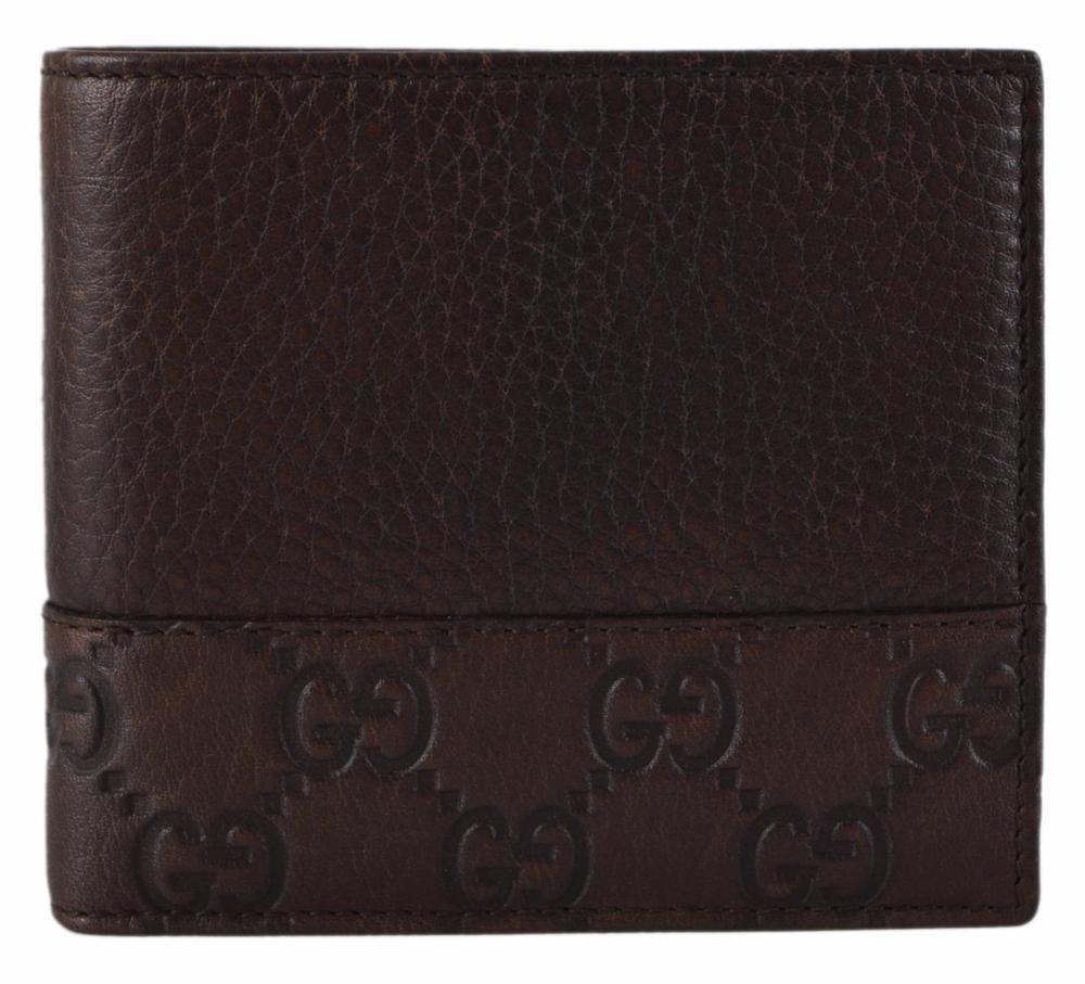 d45c9ffd440 New Gucci 256418 Mistral Old LIbeccio Brown Leather GG Guccissima Bifold  Wallet  Gucci  Bifold