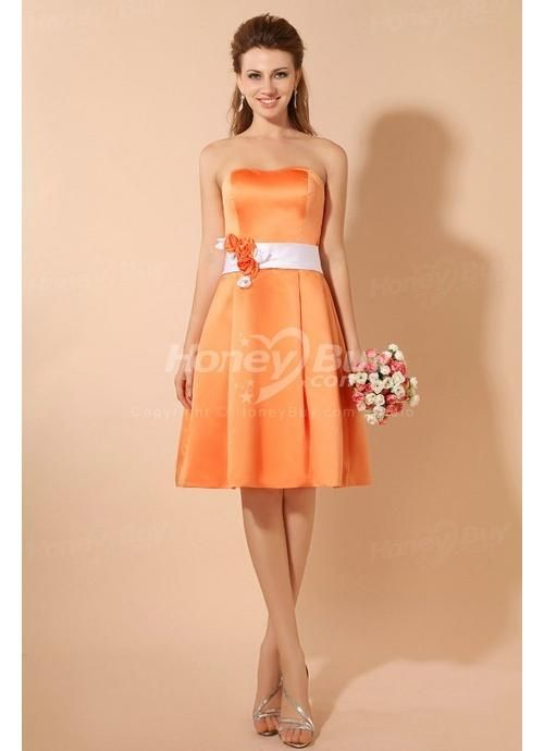 1000  images about Orange Bridesmaid Dresses on Pinterest  Satin ...