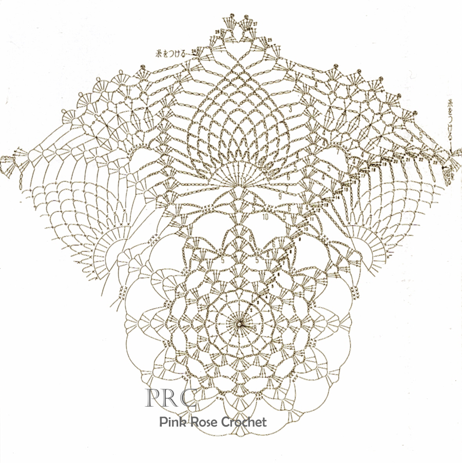 nob+pineapples+crochet+doily+chart+grafico.png (900×903)   Crochet ...