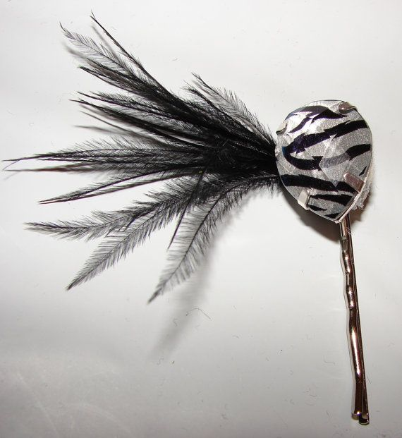 Beautiful heavy duty bobby pin with a large zebra by MoMofStrick2, $5.00