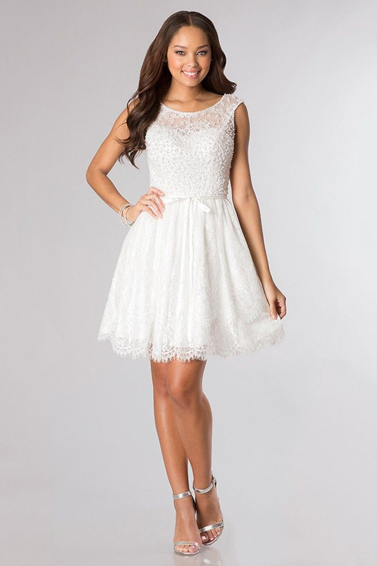 lace scoop homecoming dresses a line shortmini beaded with