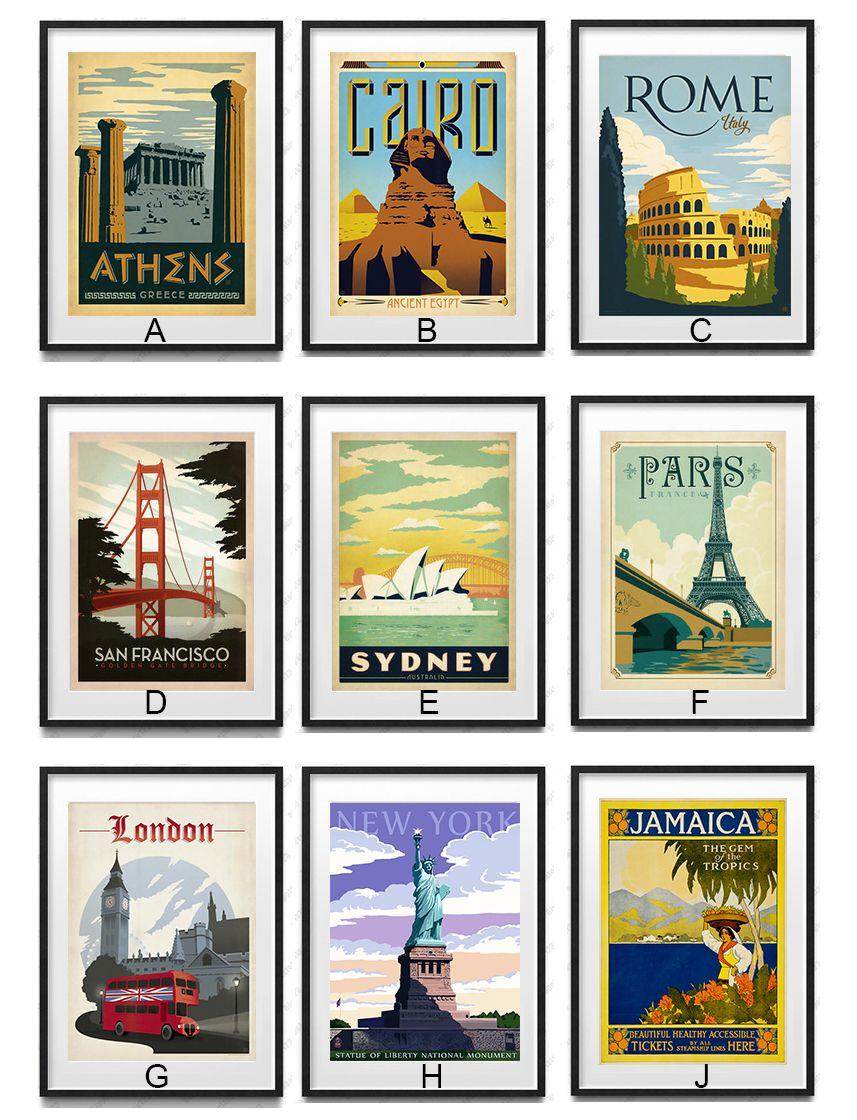 D New York City Art Print Home Decor Wall Art Poster