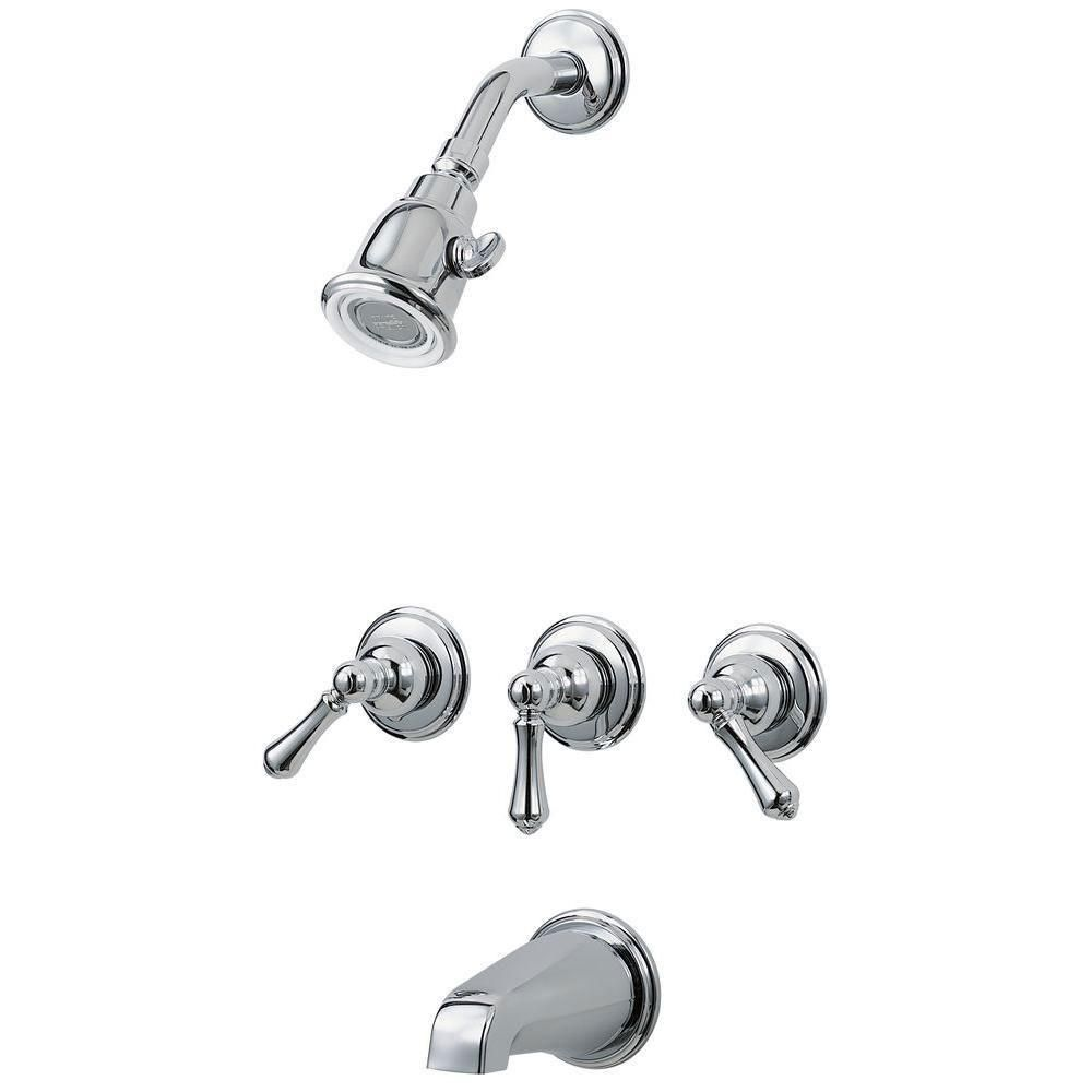 Price Pfister 01 Series 3Handle Tub And Shower Faucet Trim Kit In Delectable Pfister Bathroom Faucet Design Decoration