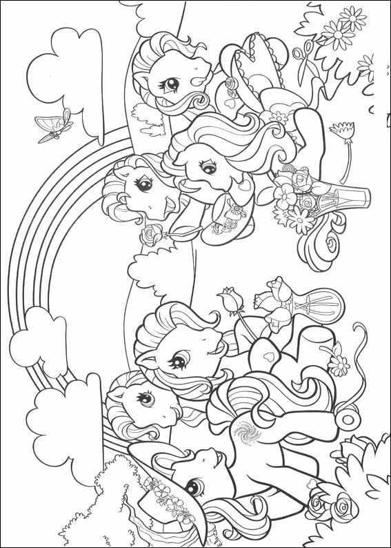 mon petit poney my little pony  unicorn coloring pages