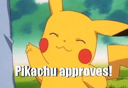 Resultado de imagen de pikachu approves