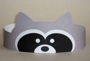Raccoon Crown  Printable van PutACrownOnIt op Etsy, $2.00