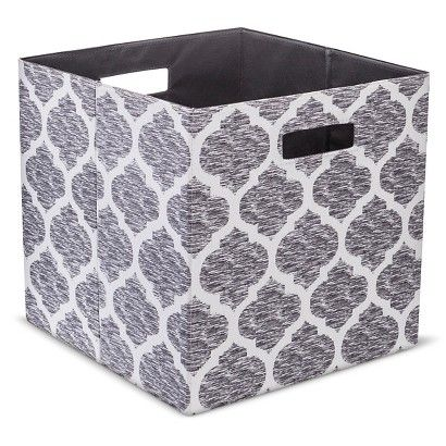Bon Threshold Fabric Cube Storage Bin $8.99  13 Inch Cube Patterned   Assorted  Colors   13