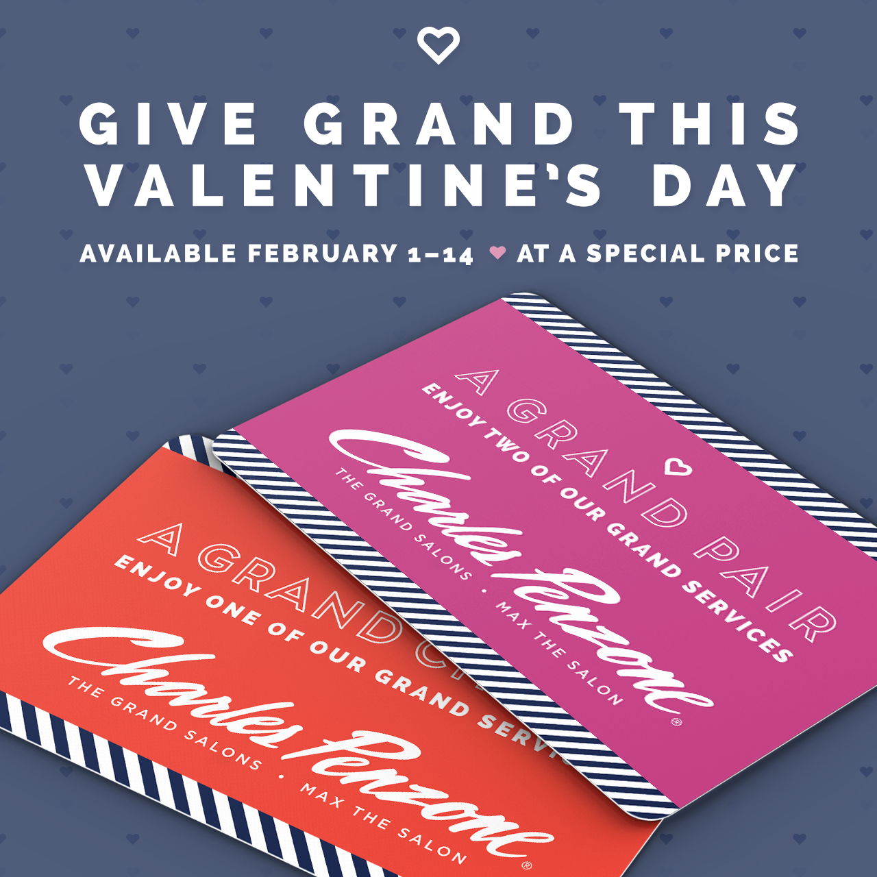 Give our very best this Valentine's Day. Choose a Grand experience at a special price. Available for purchase February 1–14, 2016.