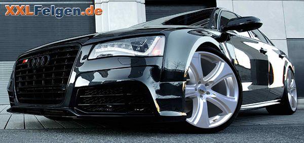 Audi A8 und 22 Zoll Alufelgen Hofele Reverso II