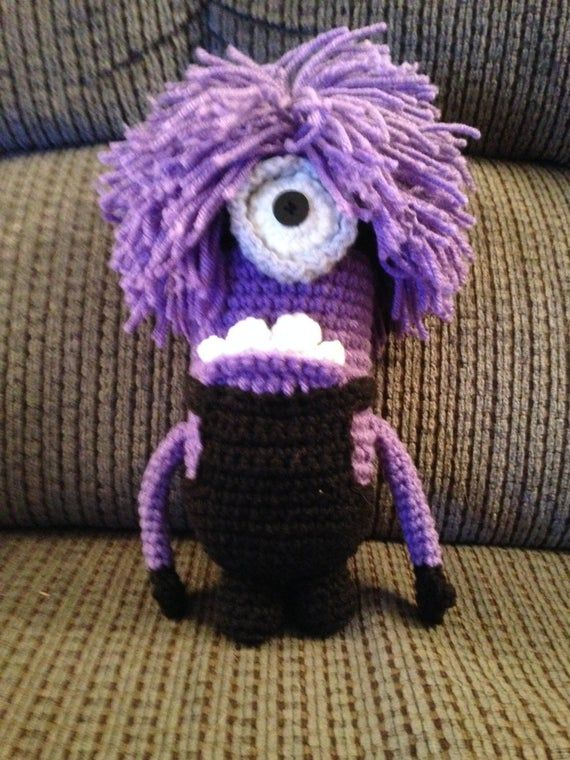 Evil purple pill monster pattern #minionpattern