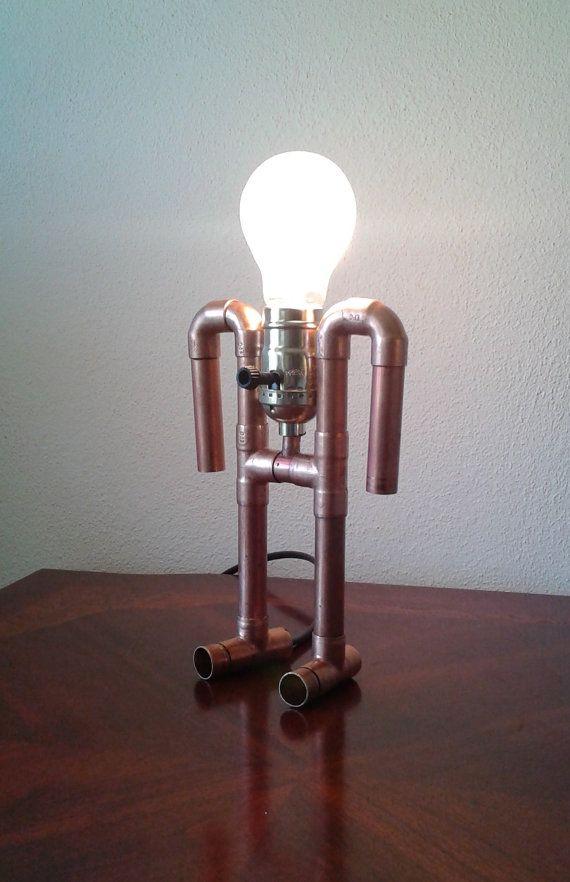 Lampe The Ancient Astronaut De La Tuyauterie En Cuivre Lampe De Tuyau Luminaire Cuivre Et Idees Pour La Maison