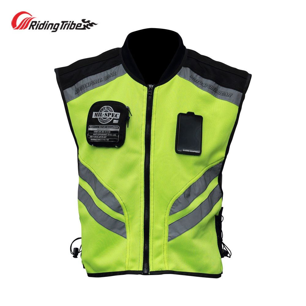 Motorcycle Jacket Reflective Vest High Visibility Night Shiny Warning Safety Coat For Traffic Work Cycli Motorcycle Jacket Womens Faux Fur Coat Reflective Vest [ 1000 x 1000 Pixel ]