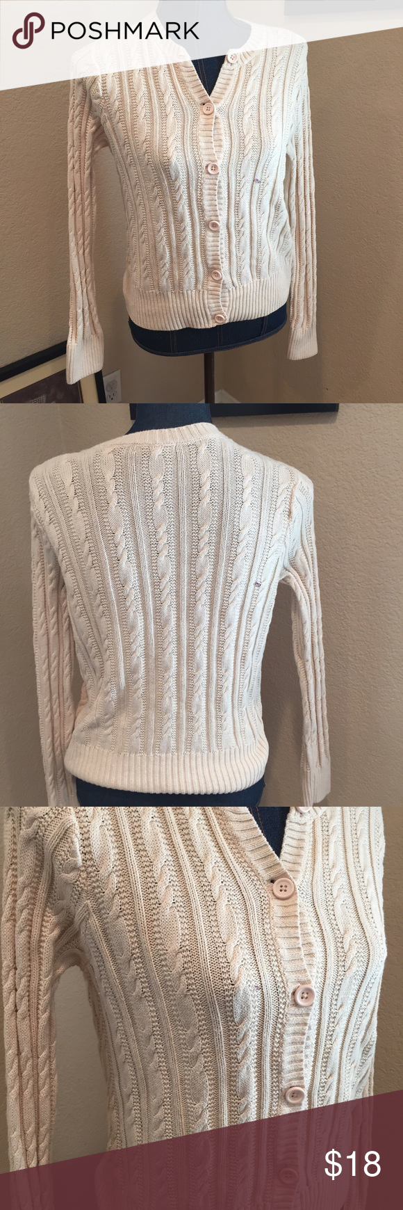 Jeanne Pierre cable cardigan sweater   Cable, Cotton and Customer ...
