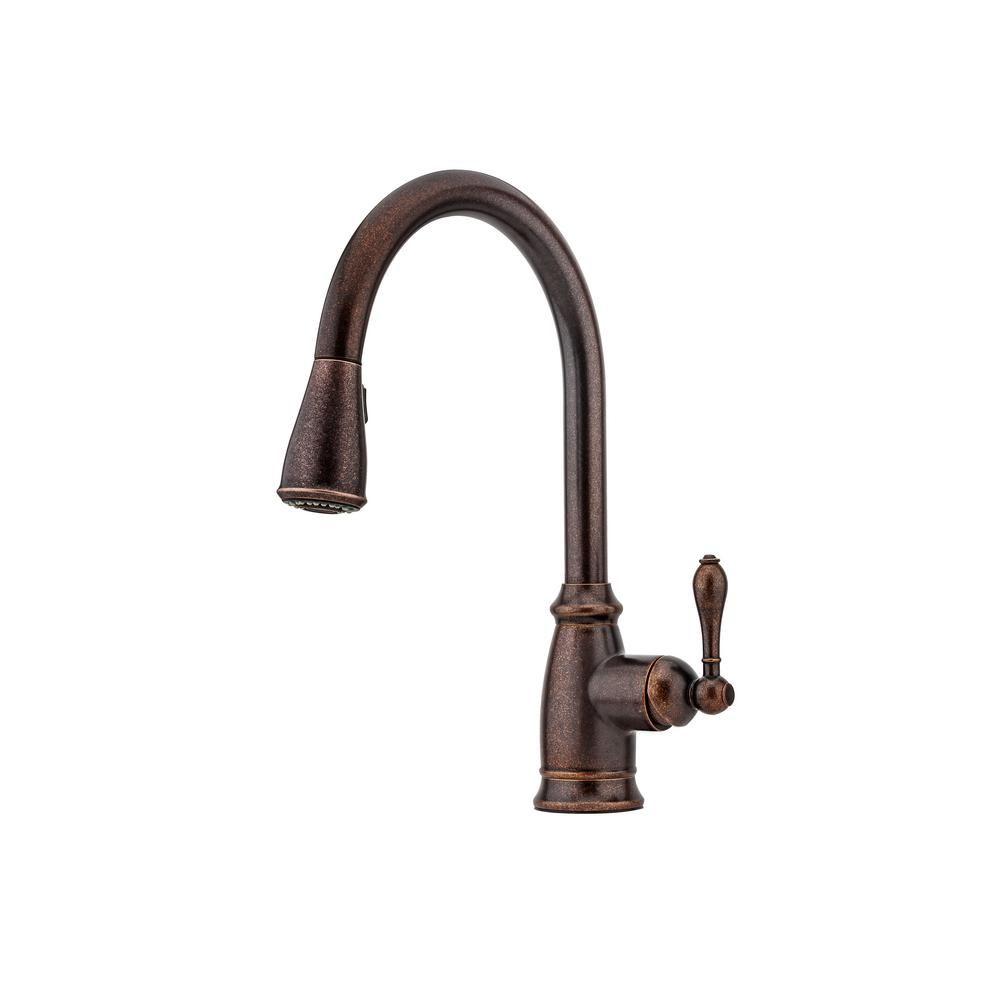 Pfister canton singlehandle pulldown sprayer kitchen faucet in