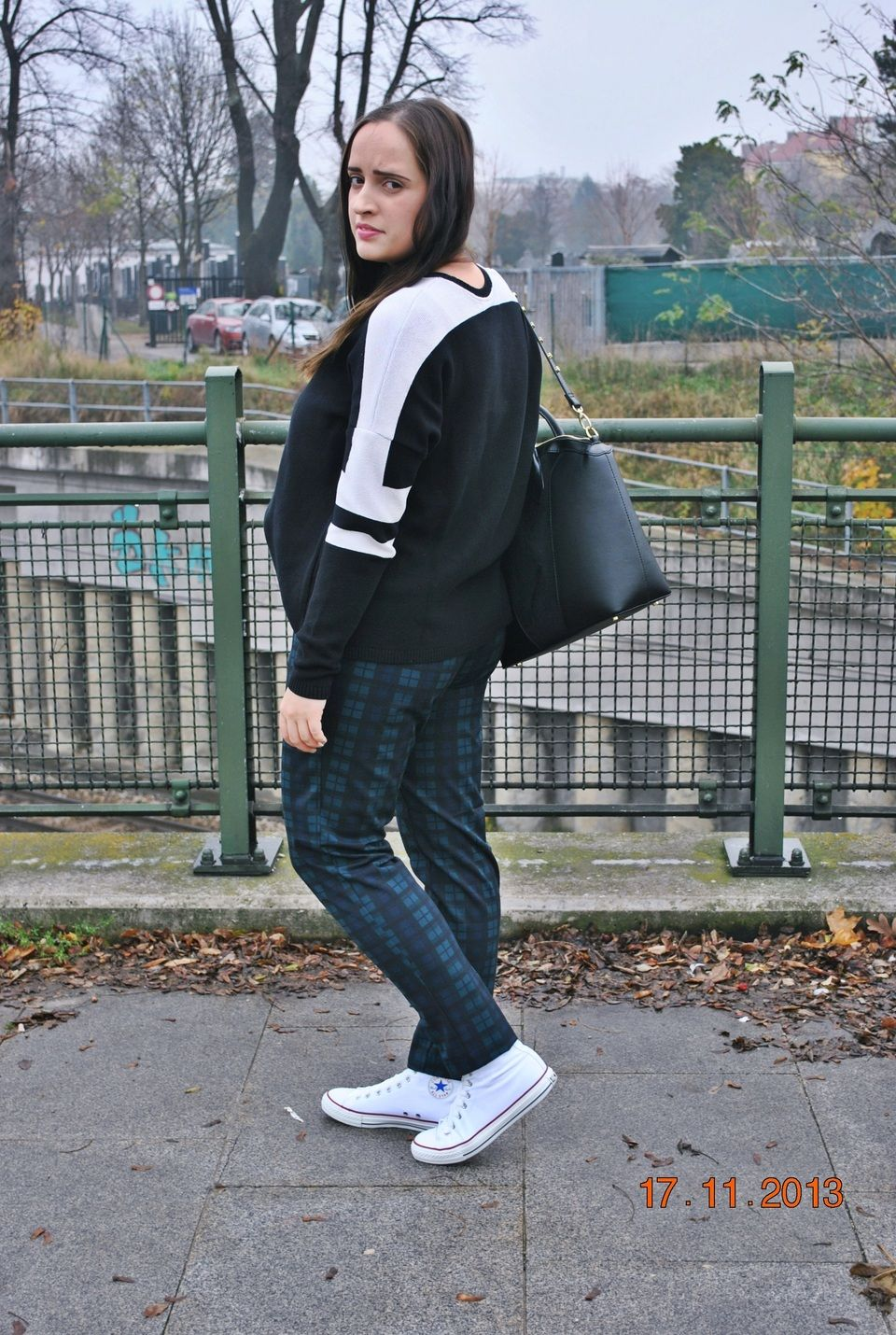 "♥ this look on whatiwear.com by IVANA TOY HANACKOVA ""TARTAN WITH CONVERSE + GIVEAWAY"" http://www.whatiwear.com/look/detail/146202"
