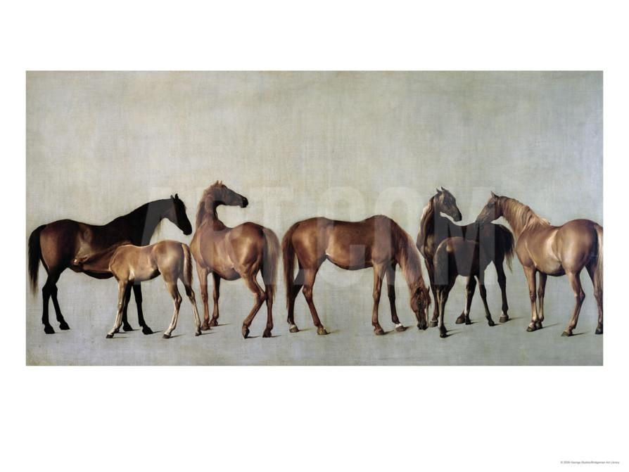 Mares and Foals Without a Background, circa 1762 Impression giclée by George Stubbs at Art.com