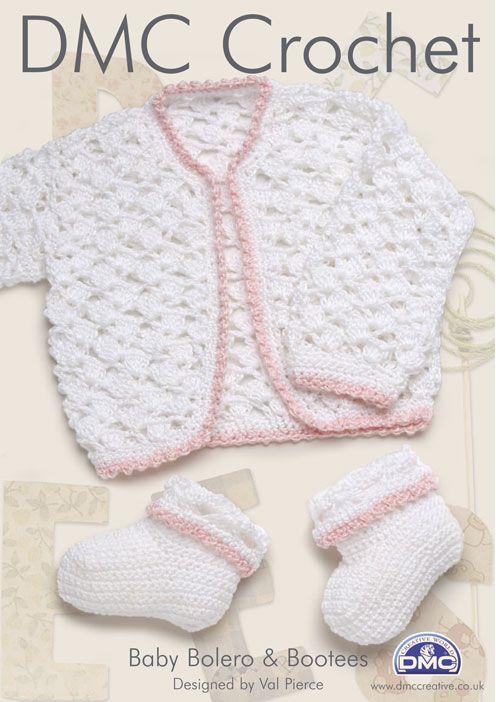 Free Crochet Patterns Baby Bolero : DMC Baby Bolero and Bootees ...