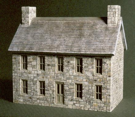 The German Colonial Farmhouse Three Quarter View Photo Of A Small Two Story Cobblestone Structure