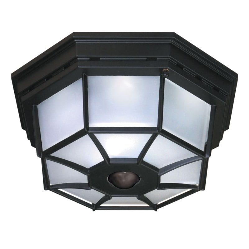 Heath Zenith Hz 4300 4 Light 360 Degree Motion Activated Outdoor Flush Mount Cei Black Lighting Ceiling Fixtures