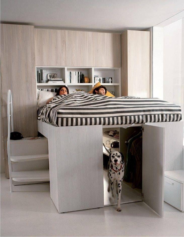 Wat Een Fantastisch Idee Een Kast Onder Je Bed En Tegelijk