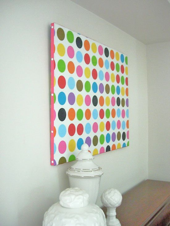 Inexpensive Decorating Ideas for Walls. Tissue paper + ribbon on ...