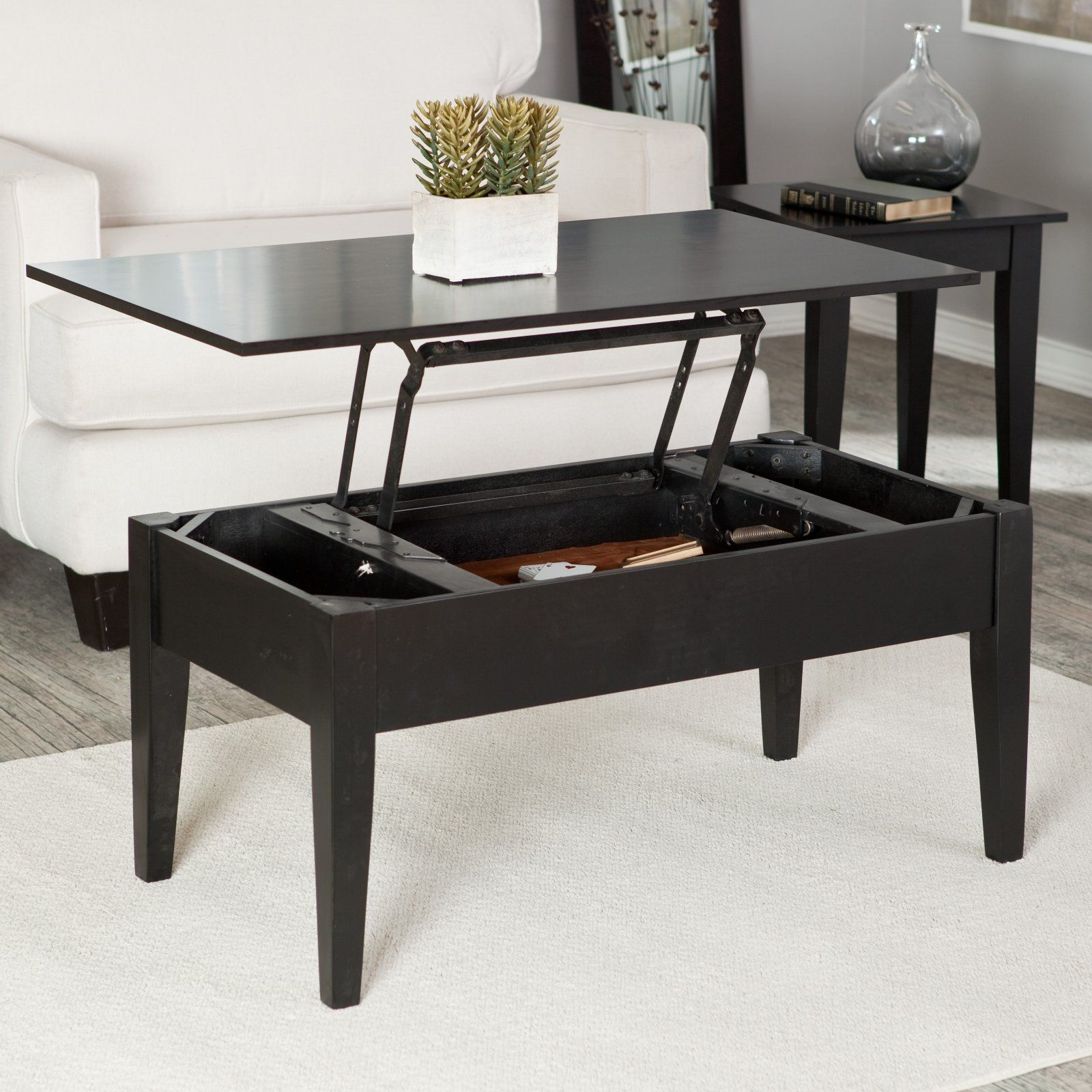 Coffee Table Doubles As A Desk Or Dining Table Turner Lift Top