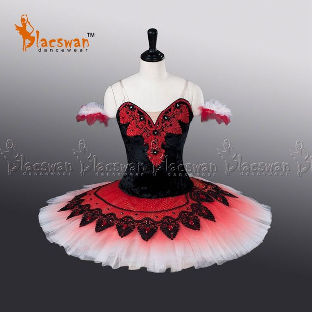 67dc2624c Adults Professional Ballet Tutus BC009 Black Red Pancake Classical Ballet  Costume Women Nutcracker Platter Ballet Tutu Dress