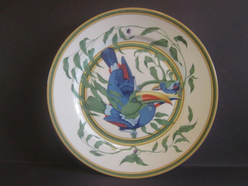 Exquisite HERMES Limoge \ Toucans\  Dinner Plate Made in France Original Decor # & Exquisite HERMES Limoge \