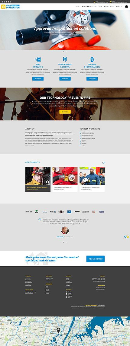 Fire Protection Business Website Template Themes Responsive